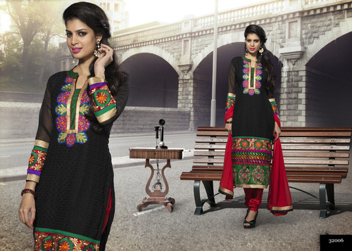 Fancy Cotton Embroidered Suit