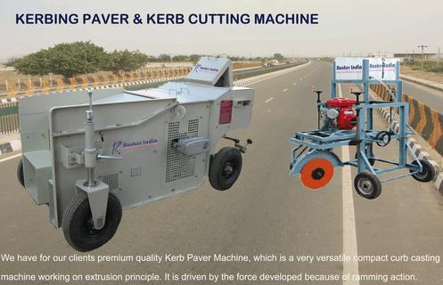 Kerbing Paver And Kerb Cutter Machine
