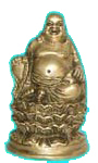 Laughing Buddha Brass Statues