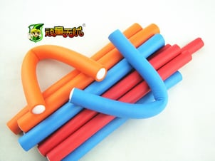 Colorful Rubber Foam Hair Roller