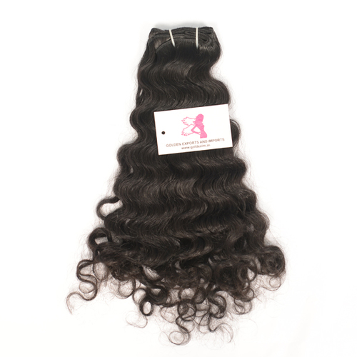 Machine Weft Natural Curly Hairs