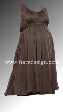 Sleeveless A Wrap Stitiched Gown With Belted Waist and Gather Work