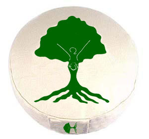 White Zafu Round Tree Cushion