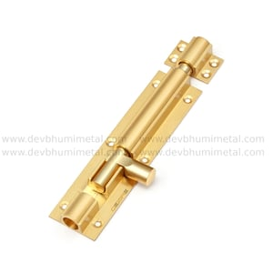 Brass Fishined Round Tower Bolt