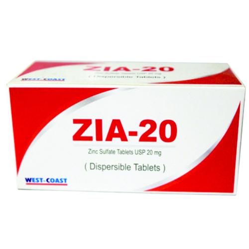Zia 20 Tablets In Ahmedabad Gujarat West Coast Pharmaceutical