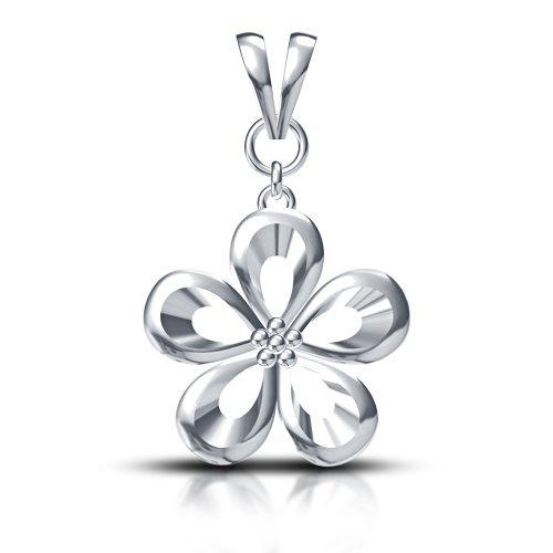 Sterling Silver Flower Style Pendant