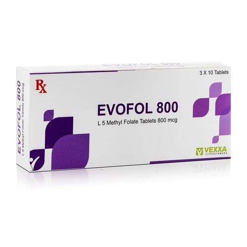 Evofol 800 (L 5 Methyl Folate Tablets 800 Mcg)