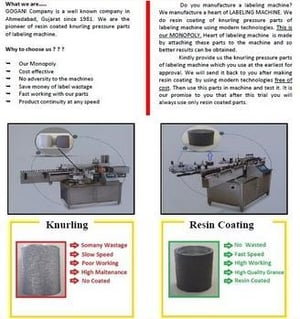 Pressure Part Knurling Roll For Labeling Machine