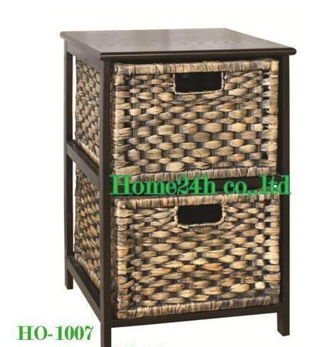 Water Hyacinth 2 Drawers Cabinet