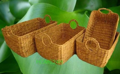 Water Hyacinth Home Storage Basket