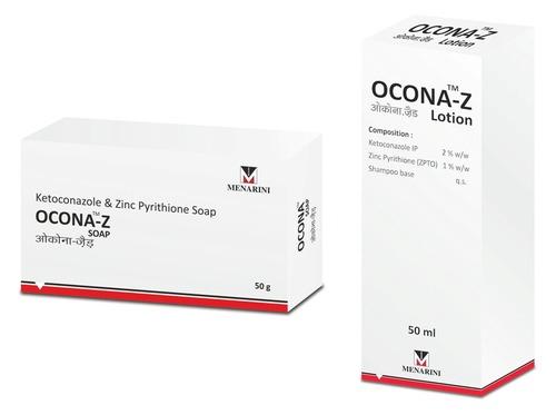 Ocona-Z (Ketoconazole & Zinc Pyrithione) Lotion and Soap - A. Menarini  India Private Limited, 2102, Tower 3, Indiabulls Finance Center, Senapati  Bapat Marg, ...