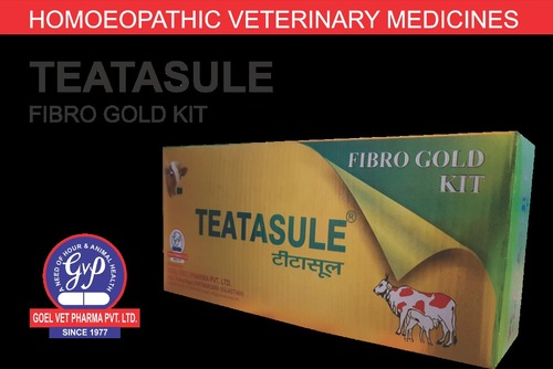 Teatasule Fibro Gold Kit Homoeopathic Veterinary Medicine Certifications: Who Gmp Certified