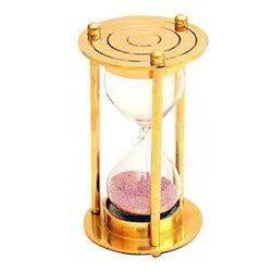 "2 Minutes 4"" Brass Sand Timer"