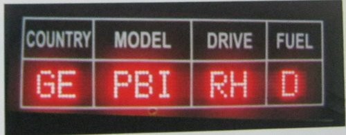 Model Indicator Display