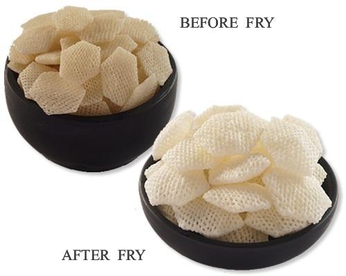Hexagon Shaped Potato Papad (Snacks Pellets)
