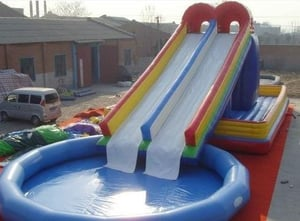 Inflatable Pool With Water Slides