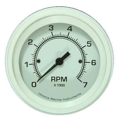 """Utrema White Marine Tachometer 3-3/8"""""""