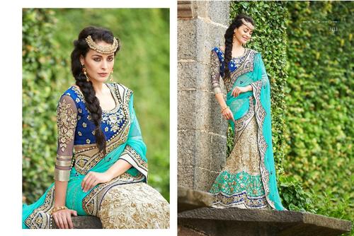 Bhagalpury Blue Saree