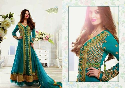 Green Readymade Salwar Kameez