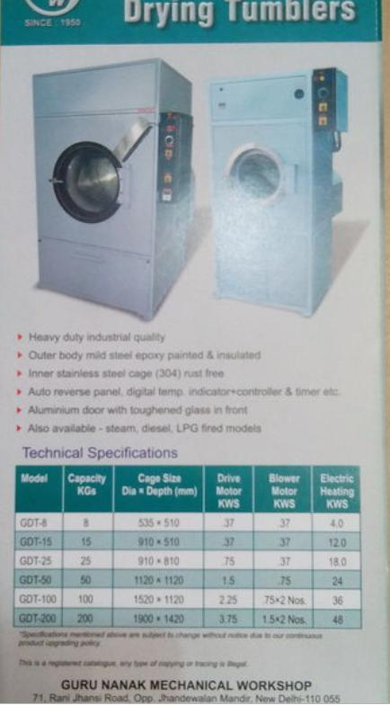 Drying tumblers in new delhi delhi india guru nanak mechanical drying tumblers in paharganj publicscrutiny Gallery