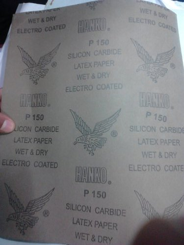Silicon Carbide Latex Paper (Wet And Dry Electro Coated)