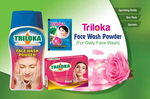 New Triloka Face Wash Powder Natural Age Group: All Age Groups Male And Female