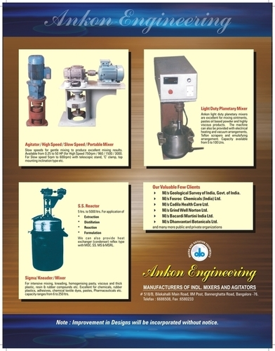 Mixing and Agitator Machinery