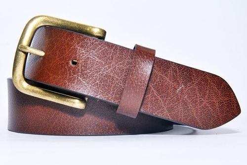 Casual Leather Belt with Buffalo Print in  Rabale