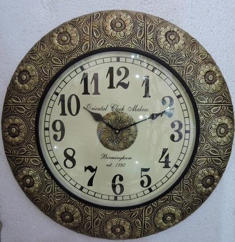 Brass Fitted Antique Wooden Wall Clocks
