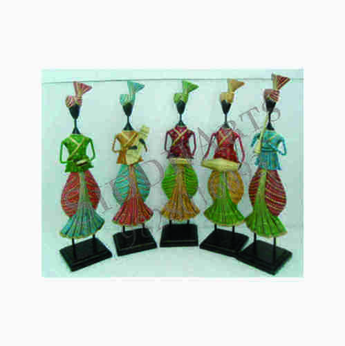 Decorative Hand Painted Metal Musicians Decor