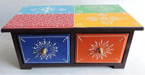 Hand Painted Ceramic Wooden Drawer