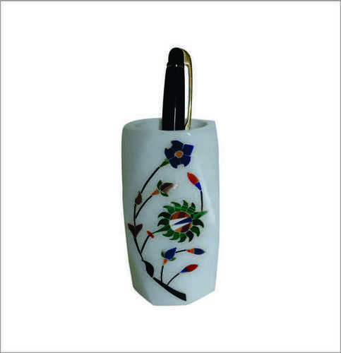 Hand Painted Marble Pen Holder