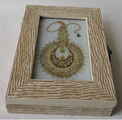 Miniature Art Embossed On Marble Painting Wooden Boxes
