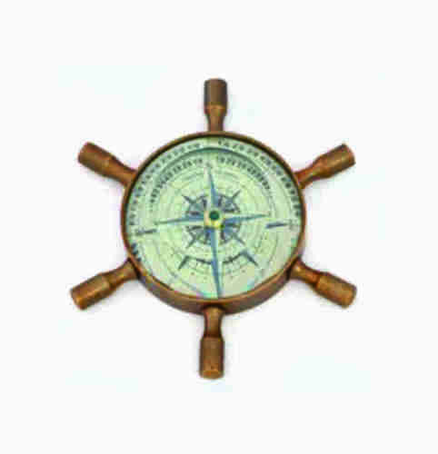 Ship Wheel Shape Nautical Compass