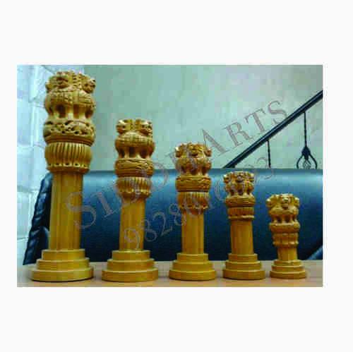 Wooden Ashoka Pillar