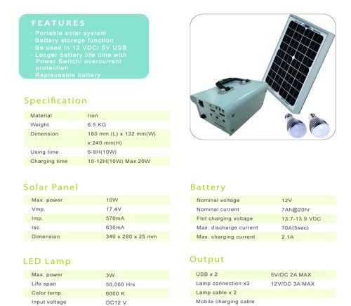 10W Solar Power Bank