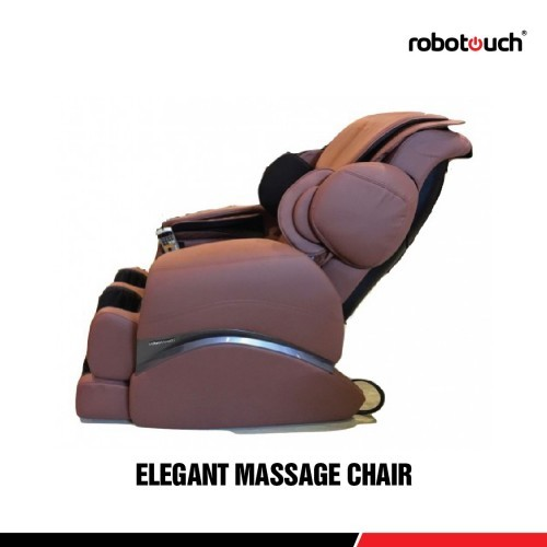 Robotouch Elegant Featured Full Body Shiatsu Massage Chair Color Brown