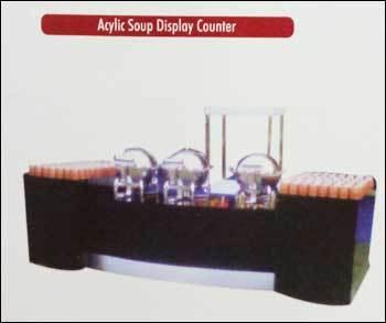 Acrylic Soup Display Counter