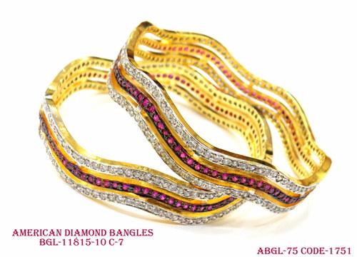 American Diamond Bangles Bgl-11815-10 C-7