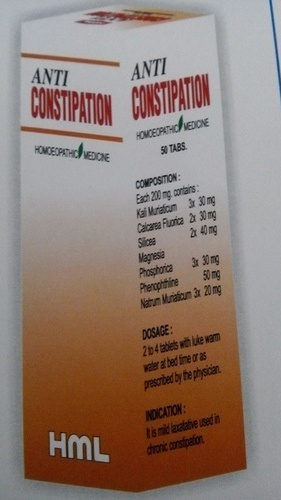 Anti Constipation Homoepathic Tablet