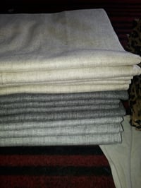 Silk Wool Plain Stole