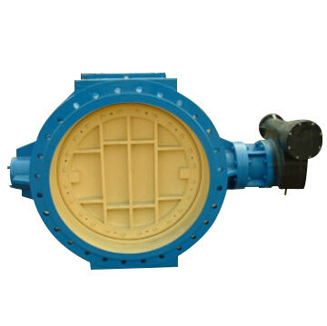 Double Flanged Eccentric Rubber Seated Butterfly Valve