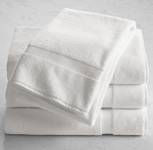 White Cotton Bath Towels in  Banjara Hills