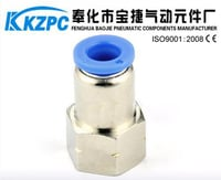PCF6-02 Female Threaded Direct Way Pipe And Tube Fitting