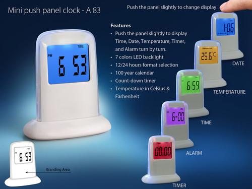 Mini Push Table Clock
