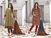Unstiched Cotton Salwar Suits