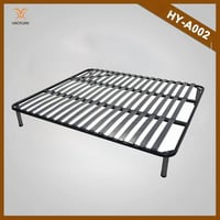 Folding Wooden and Metal Slatted Bed Frame (HY-A002)