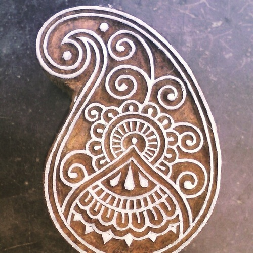 Hand Block Wooden Printing Stamps