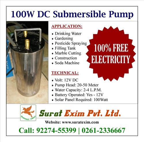 100 Watt 12v Dc Well Pump
