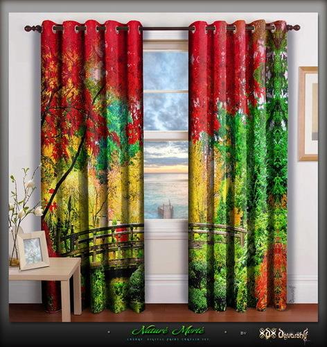 Digital Print Nature Curtains